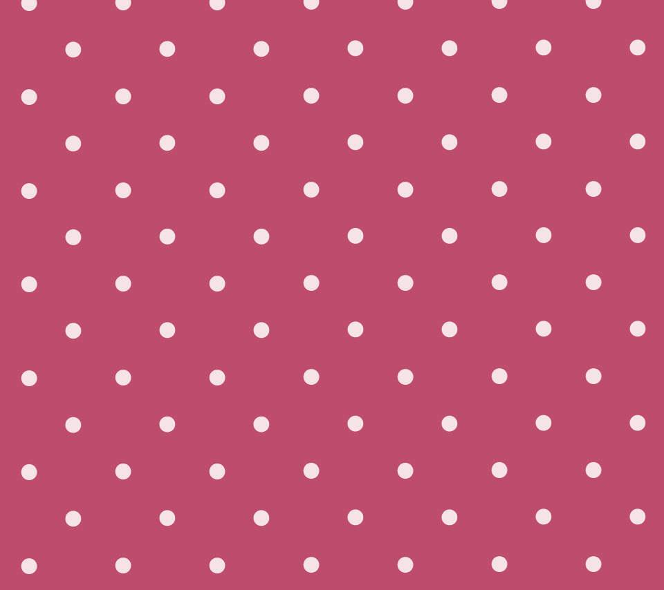 かわいいピンクのドット柄のスマホ用壁紙(Android用/960×854)