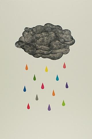 雲の涙のスマホ用壁紙(iPhone用/320×480)