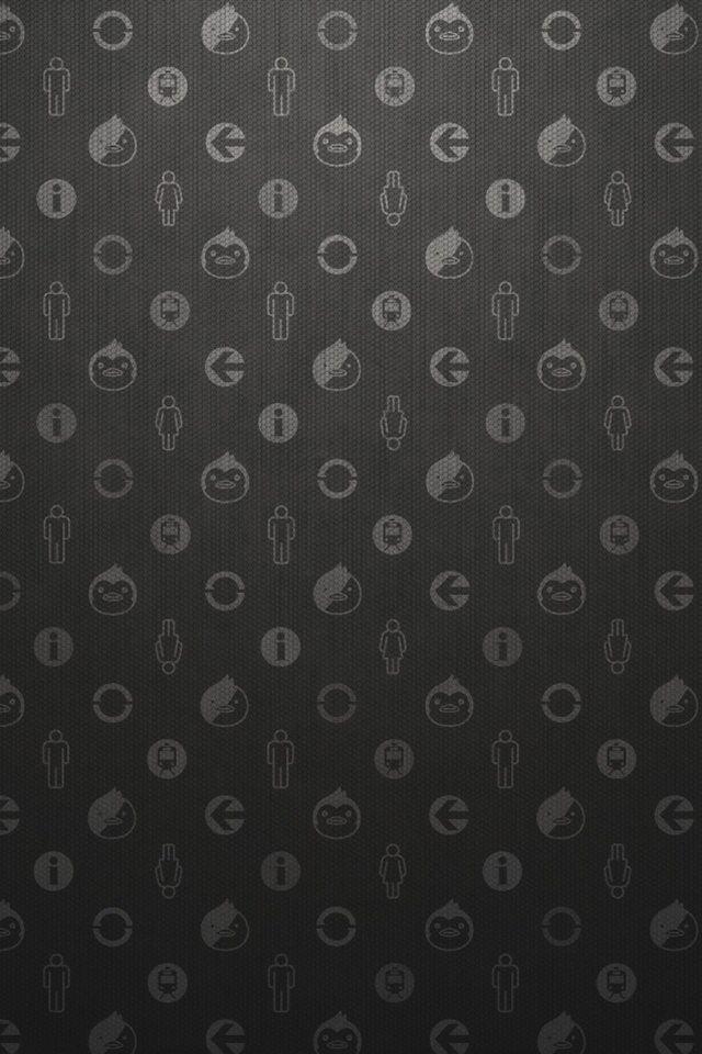 黒のラブリーなスマホ用壁紙(Android用/960×854)