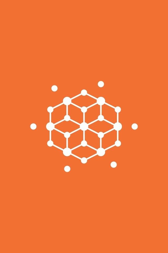 オレンジダイヤグラムのスマホ用壁紙(iPhone4S用)