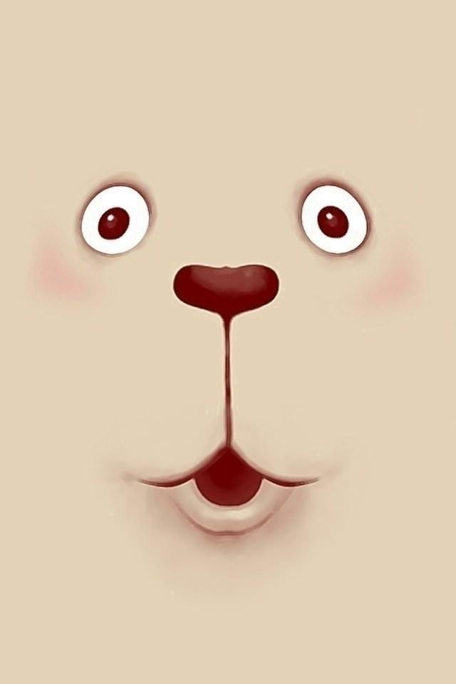 かわいいクマのスマホ用壁紙(iPhone4S用)