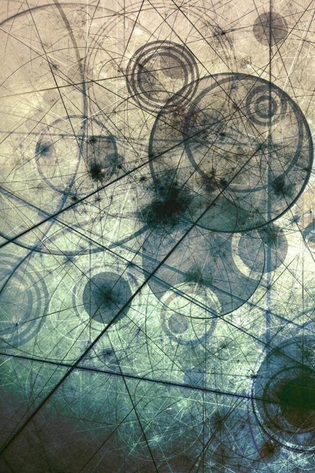 幾何学模様のスマホ用壁紙(iPhone4S用)