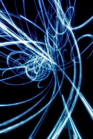 青い閃光のスマホ用壁紙(iPhone用/320×480)
