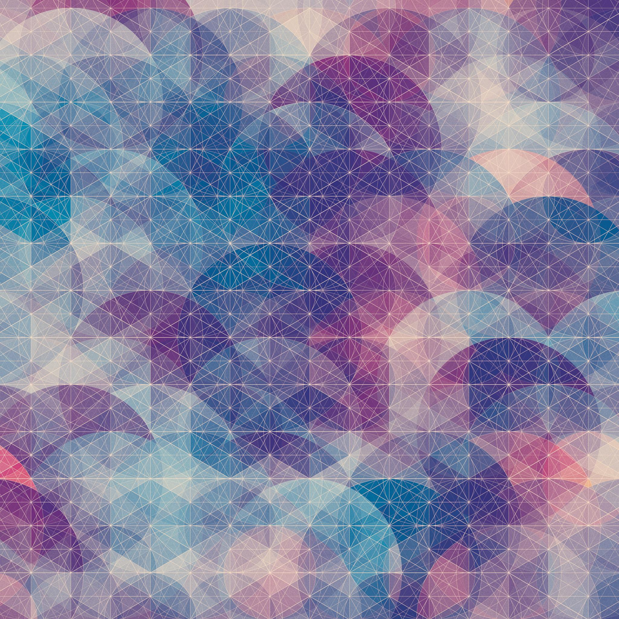 カラフルな幾何学模様の壁紙2(iPad3用/2048×2048)
