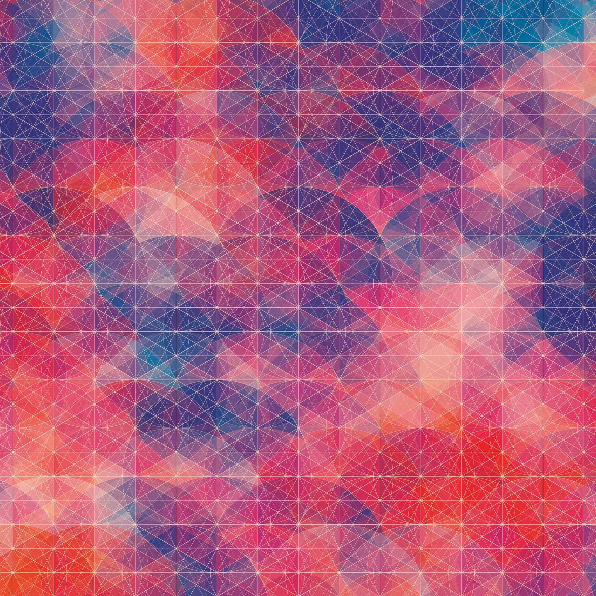 カラフルな幾何学模様の壁紙3(iPad3用/2048×2048)