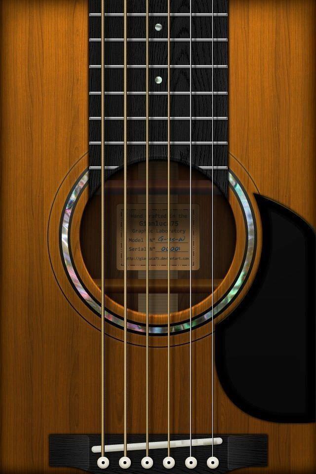 アコースティックギターのスマホ用壁紙(iPhone4S用)