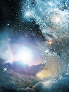 宇宙 銀河のスマホ用壁紙(Android用/240×320)