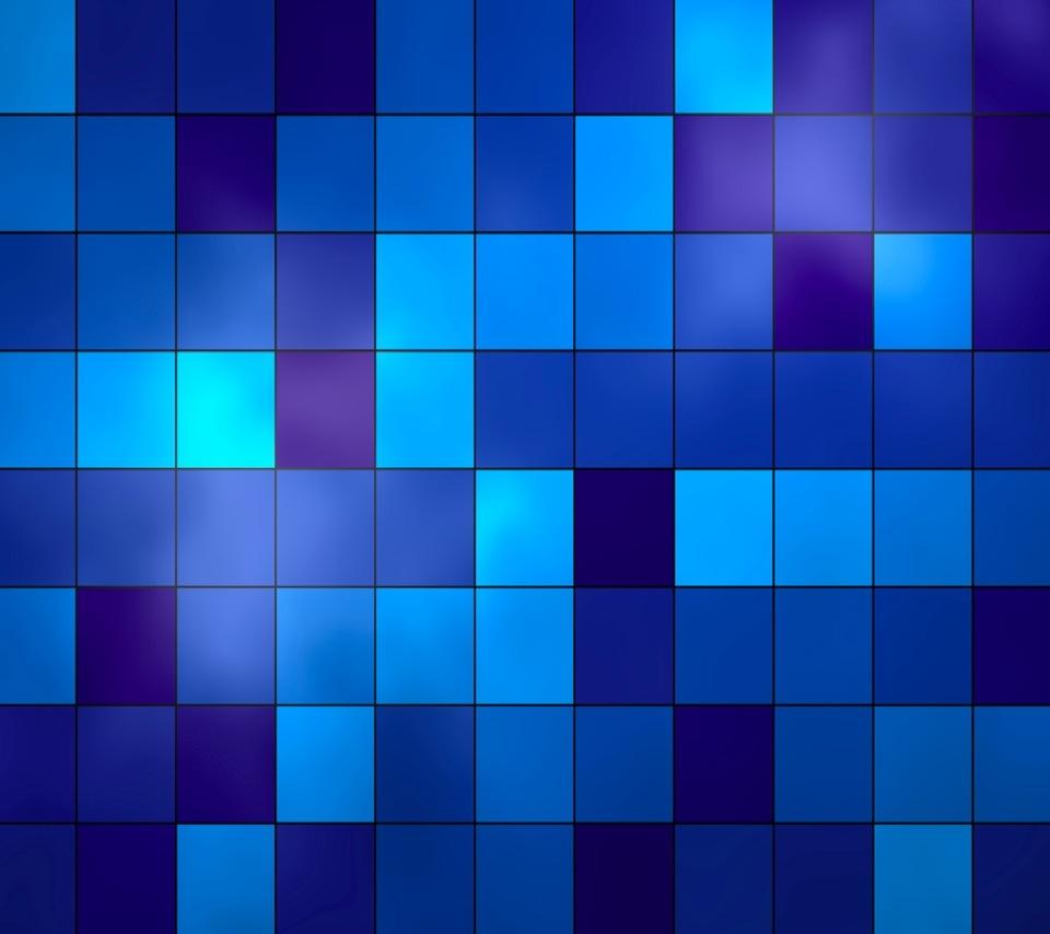 青いスクエアのスマホ用壁紙(Android用/960×854)