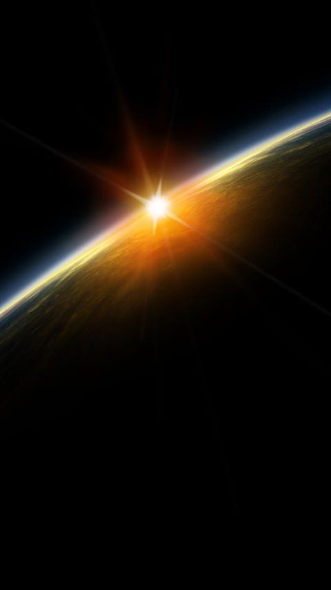 地球のスマホ用壁紙(Android用/480×854)