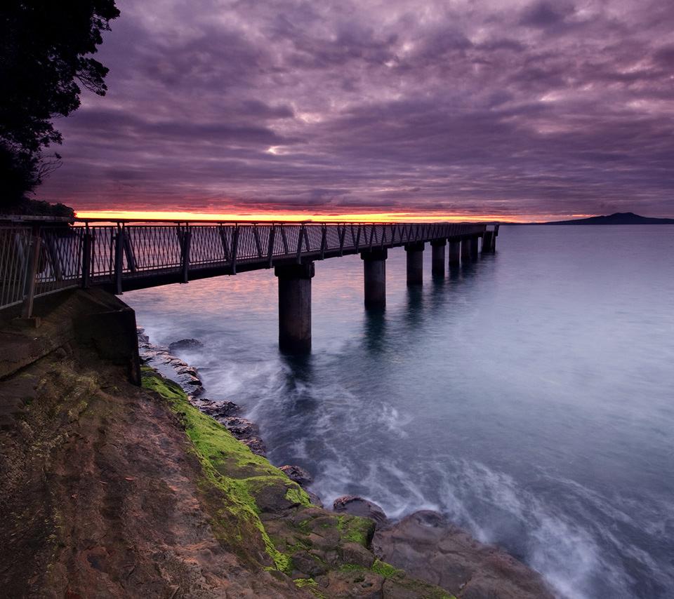海を架ける橋のスマホ用壁紙(Android用/960×854)