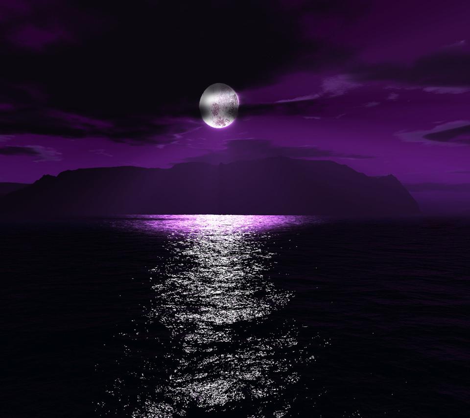 漆黒の海のスマホ用壁紙(Android用/960×854)