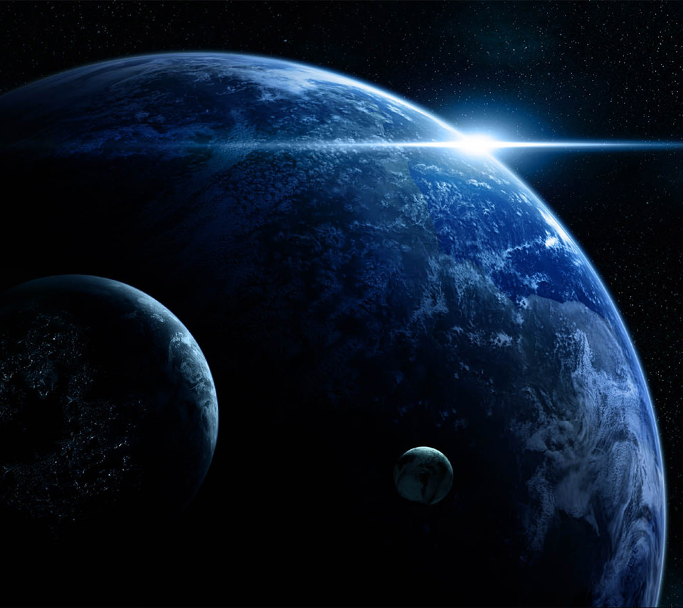 BLUE EARTHのスマホ用壁紙(Android用/960×854)