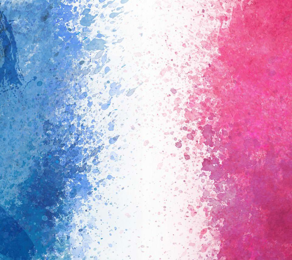 カラフルな水彩のスマホ用壁紙(Android用/960×854)