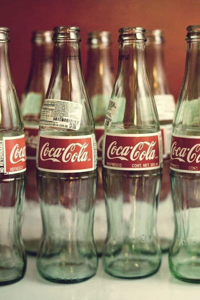 コカコーラのサークル柄のスマホ用壁紙(iPhone4S用)