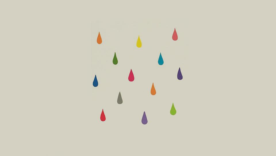 色彩レインドロップの壁紙(PSP Vita用/960×544)