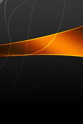モダンブラックのスマホ用壁紙(iPhone用/320×480)