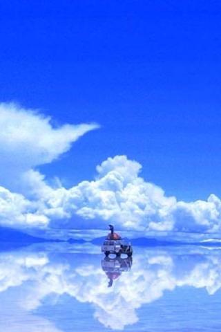 綺麗すぎるウユニ湖のスマホ用壁紙(iPhone用/320×480)