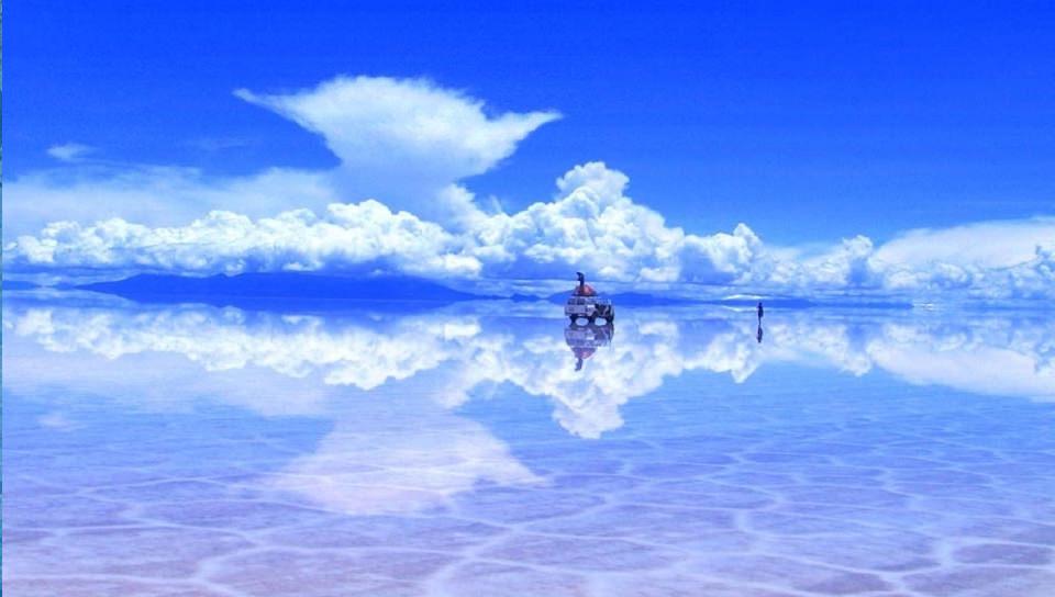 ガラスの湖の壁紙(PSP Vita用/960×544)