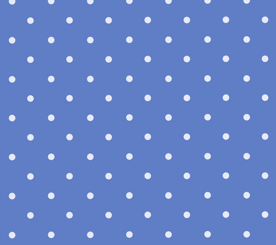 かわいい青のドット柄のスマホ用壁紙(Android用/960×854)