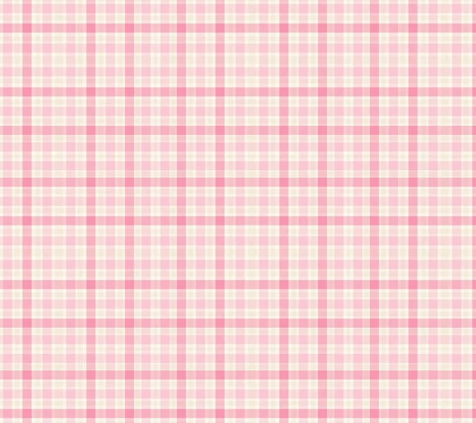 ピンクのギンガムチェックのスマホ用壁紙(Android用/960×854)