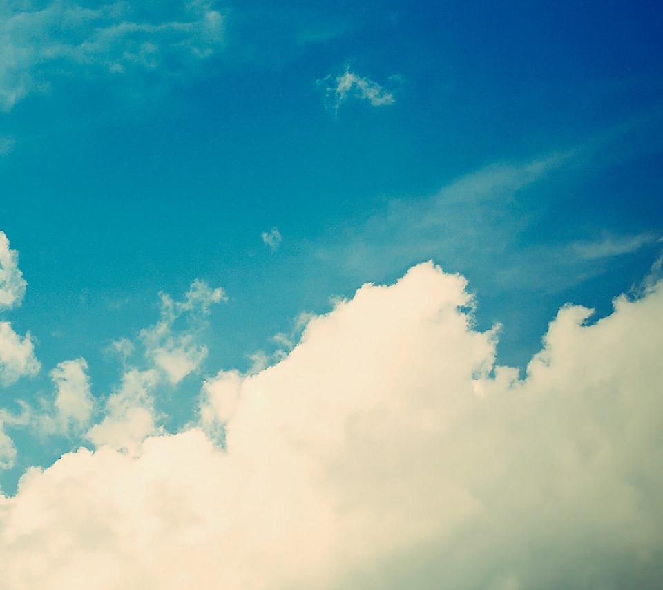透き通るような空のスマホ用壁紙(Android用/960×854)