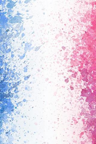 赤と青の水彩のスマホ用壁紙(iPhone用/320×480)