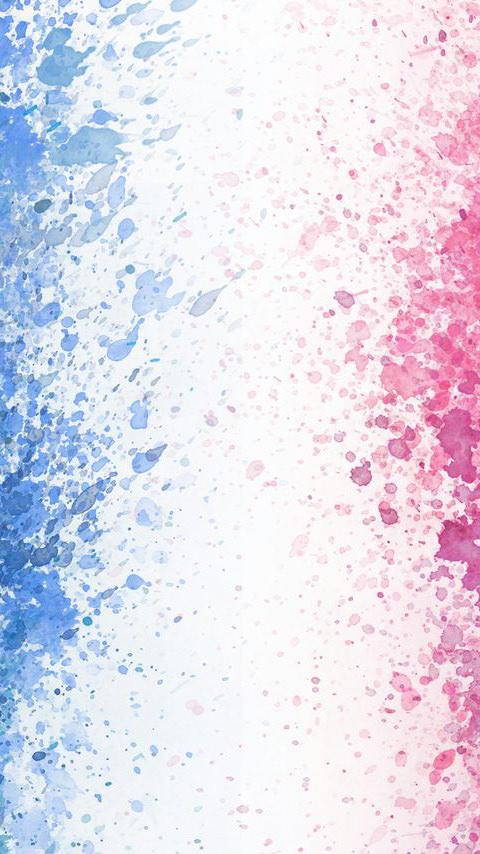 鮮やかな水彩のスマホ用壁紙(Android用/480×854)