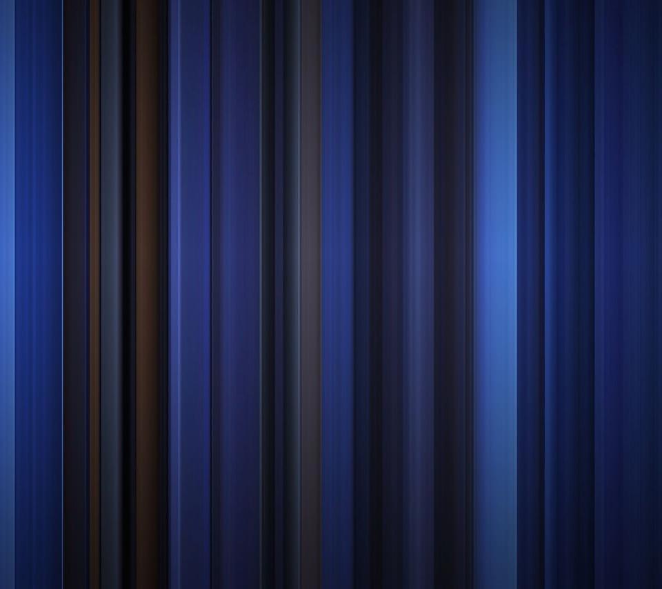 青いカーテンのスマホ用壁紙(Android用/960×854)