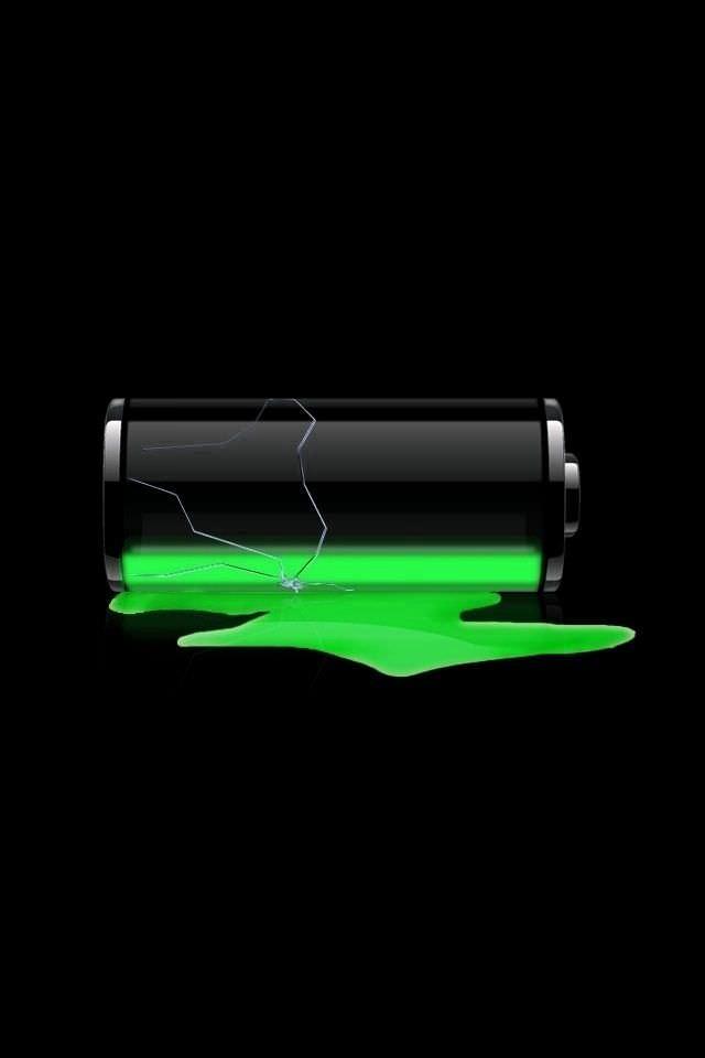 電池切れのスマホ用壁紙(iPhone4S用)