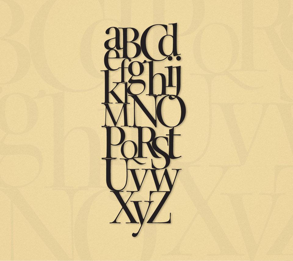 アルファベットのスマホ用壁紙(Android用/960×854)