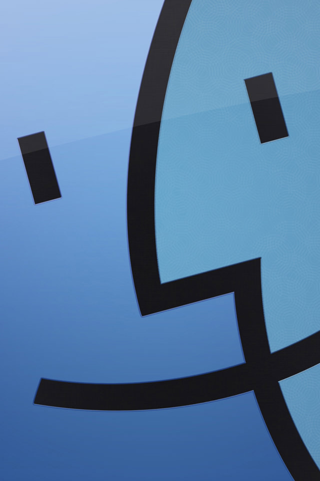 Mac Finderのスマホ用壁紙(iPhone4S用)