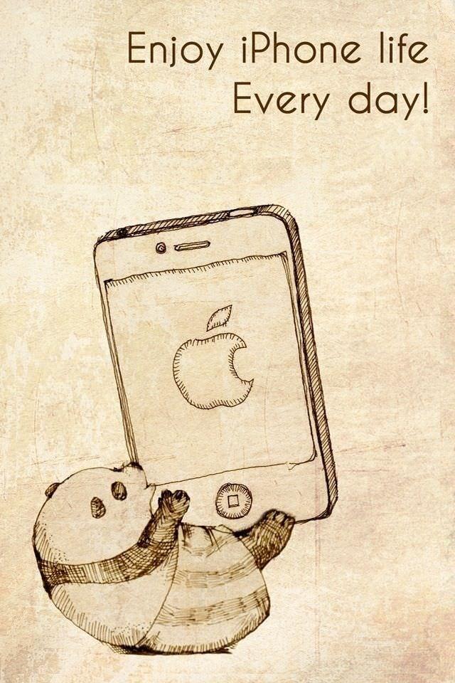 かわいいパンダのスマホ壁紙iPhone4S用)