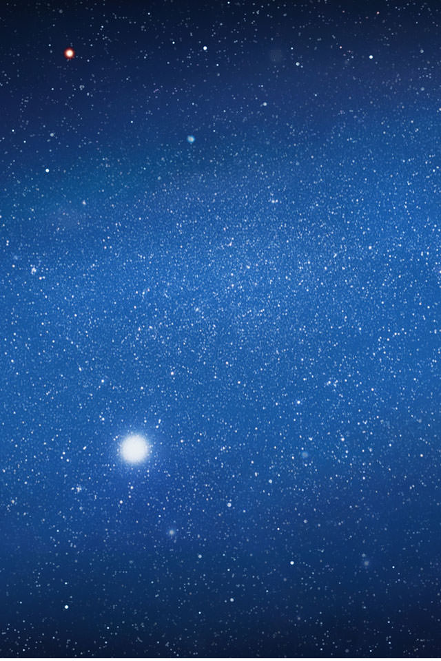 銀河系のスマホ用壁紙(iPhone4S用)