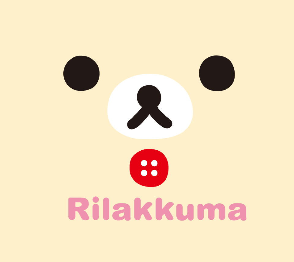 リラックマのスマホ用壁紙2(Android用/960×854)