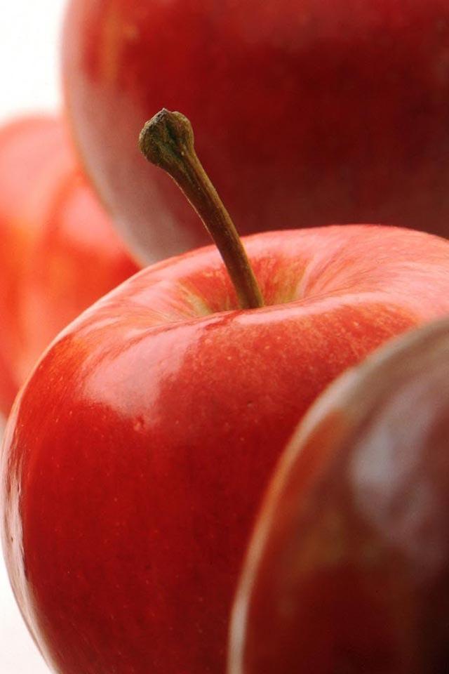 リンゴのスマホ用壁紙(iPhone用/640×960)