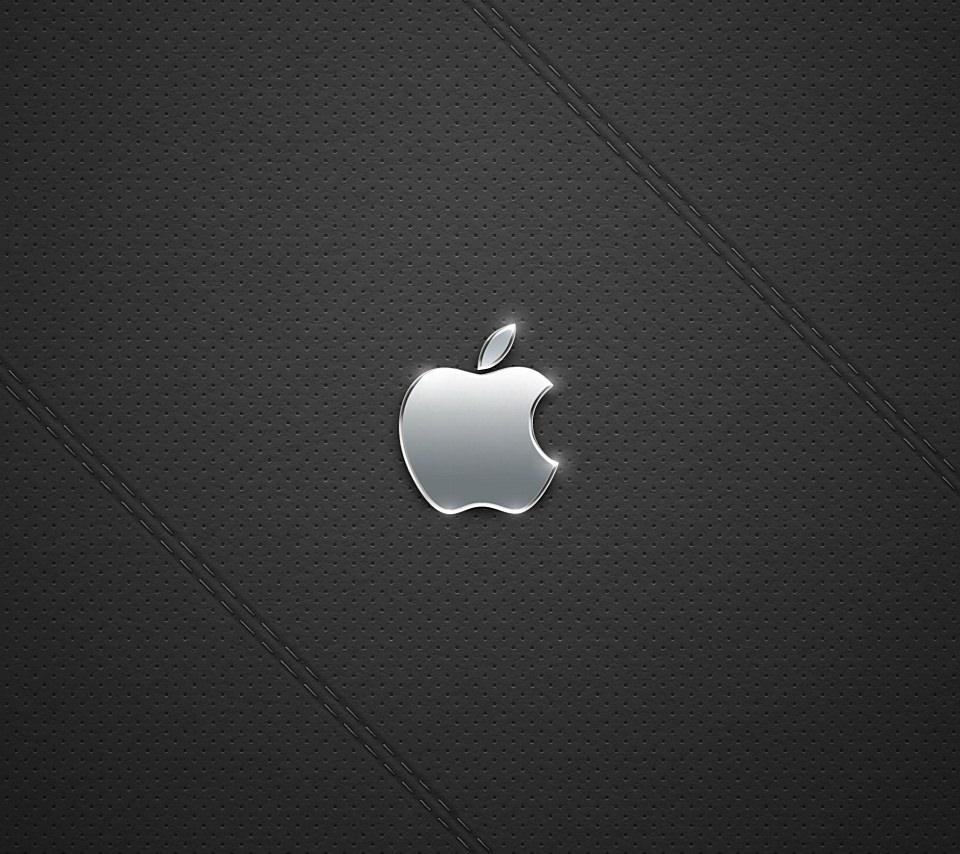 ブラックレザーアップルの壁紙(Android用/960×854)