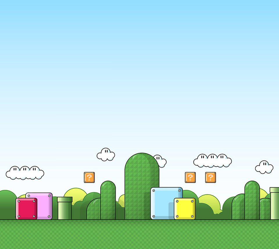 マリオ ステージのスマホ用壁紙(Android用/960×854)