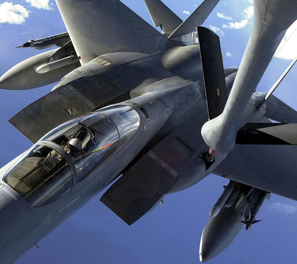 戦闘機のスマホ用壁紙(Android用/960×854)