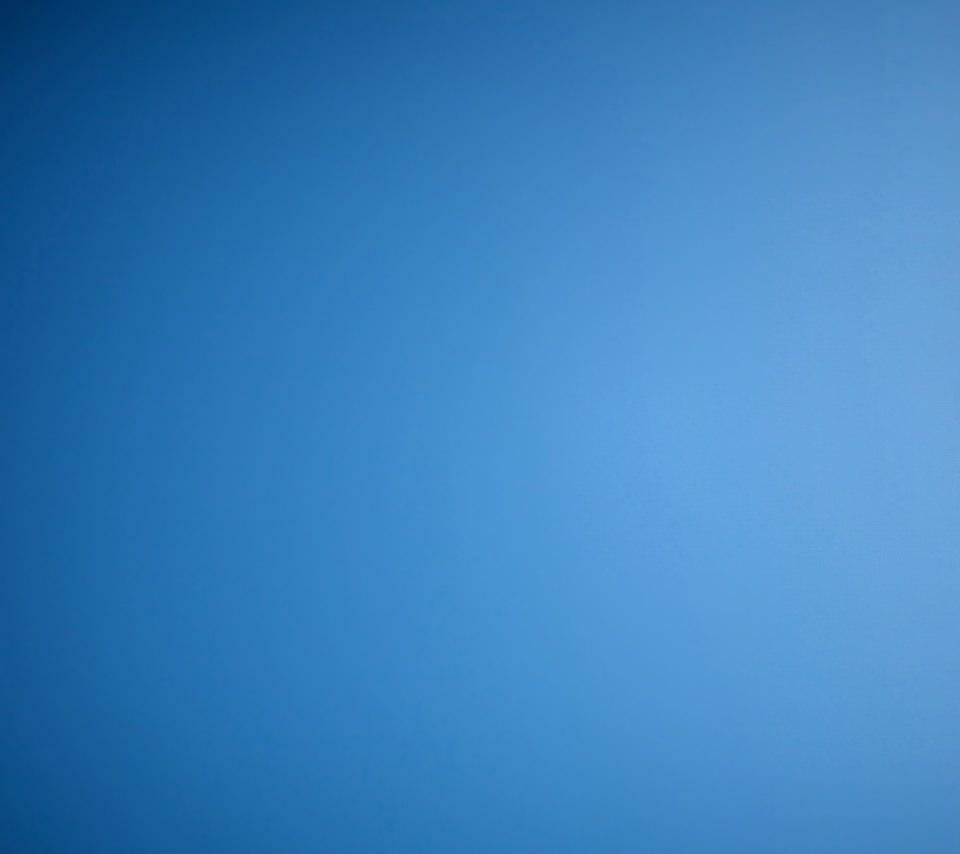 シンプルなブルーのスマホ用壁紙(Android用/960×854)