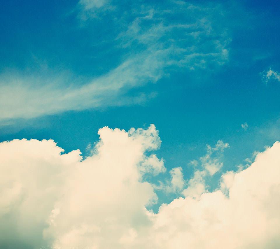 綺麗な夏空のスマホ用壁紙(Android用/960×854)