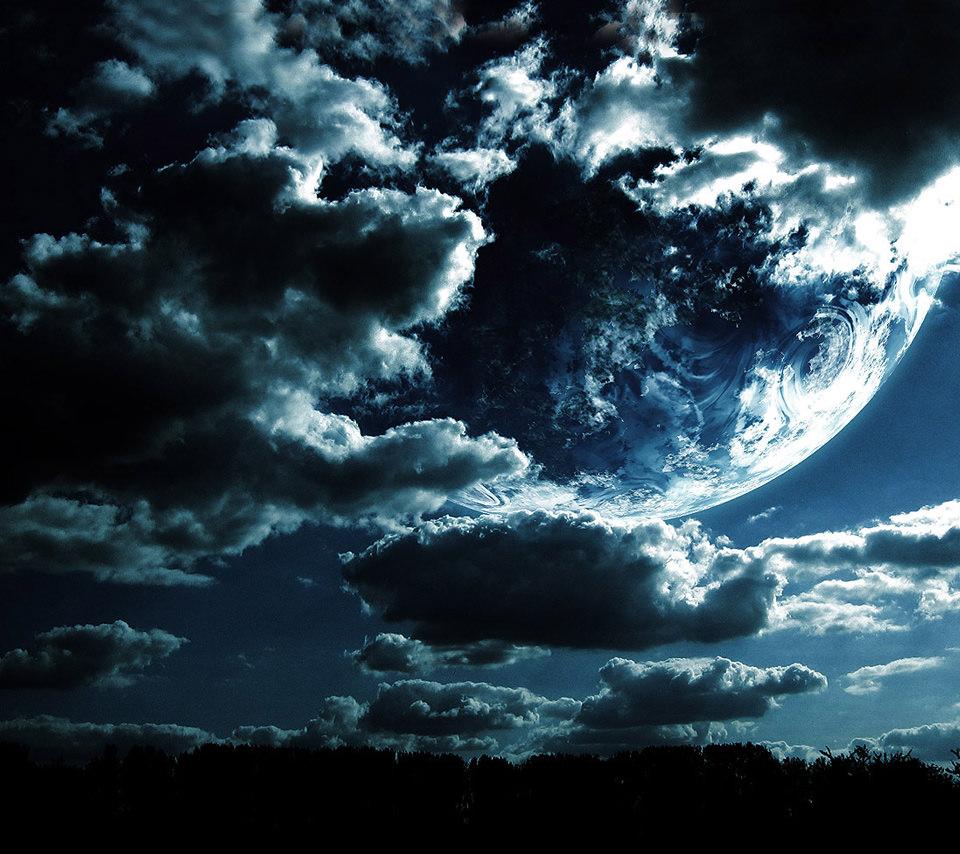 綺麗な青い地球のスマホ用壁紙(Android用/960×854)