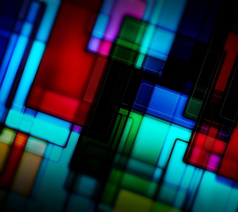 美しいステンドグラスのスマホ用壁紙(Android用/960×854)