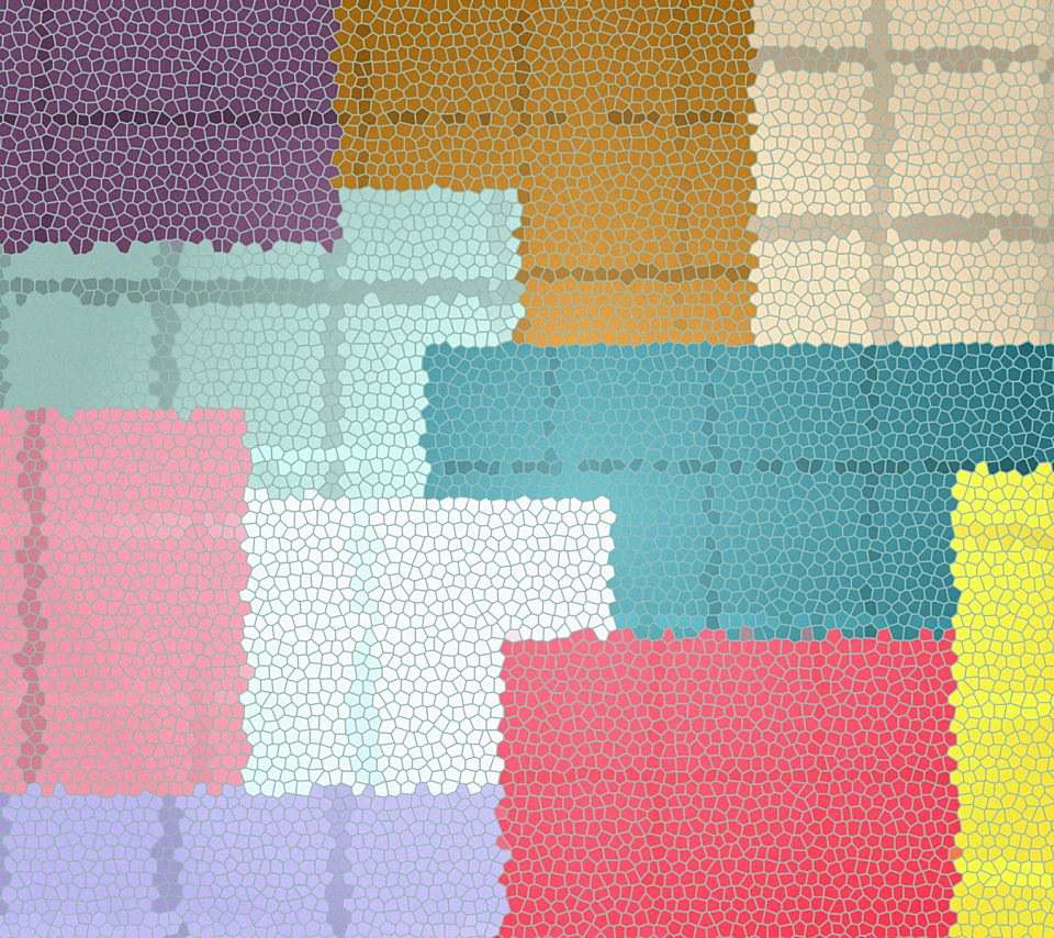 カラフルモザイクのスマホ用壁紙(Android用/960×854)