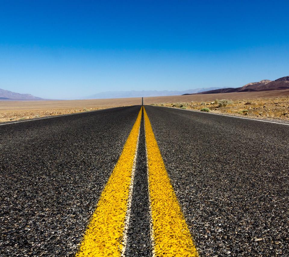高画質な道路のスマホ用壁紙(Android用/960×854)