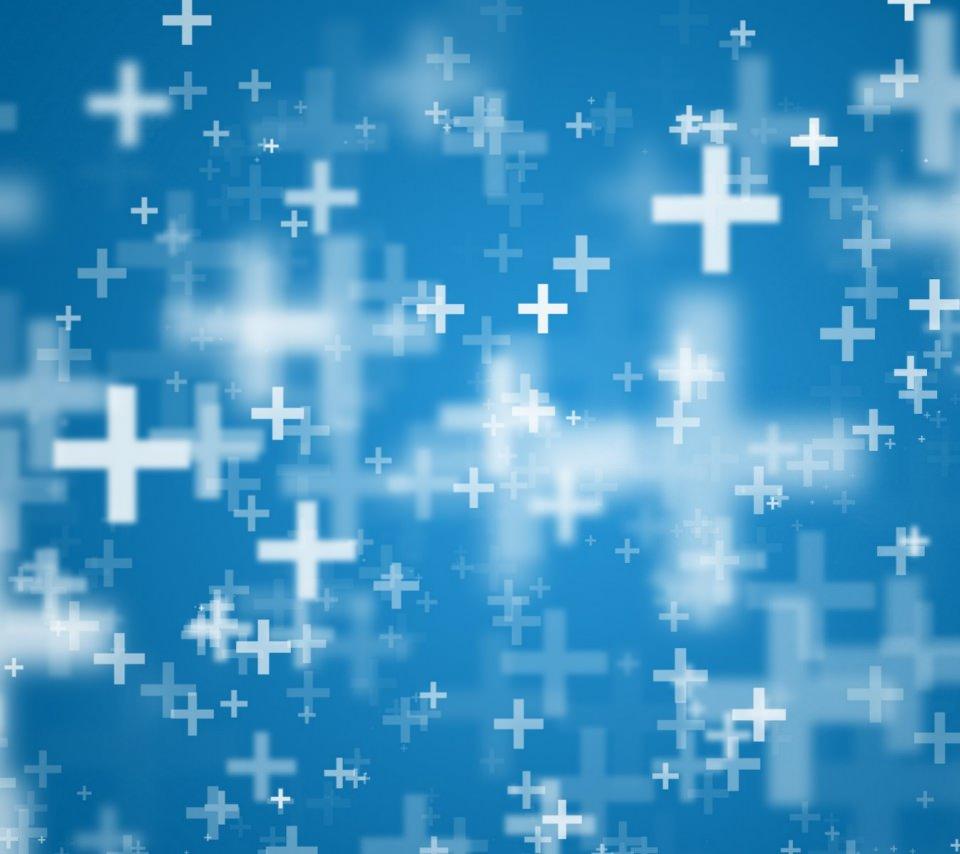 青い十字架のスマホ用壁紙(Android用/960×854)