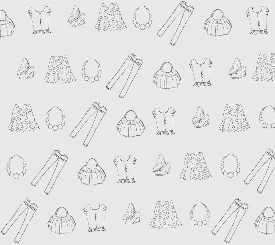 お洒落なファッションのスマホ用壁紙(Android用/960×854)