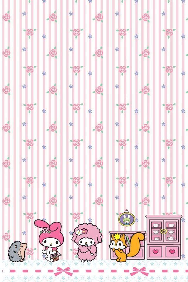マイメロディのスマホ用壁紙(iPhone用/640×960)