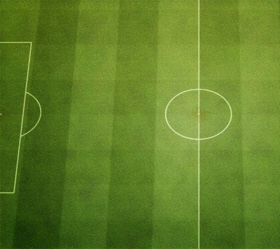 サッカーグラウンドのスマホ用壁紙(Android用/960×854)