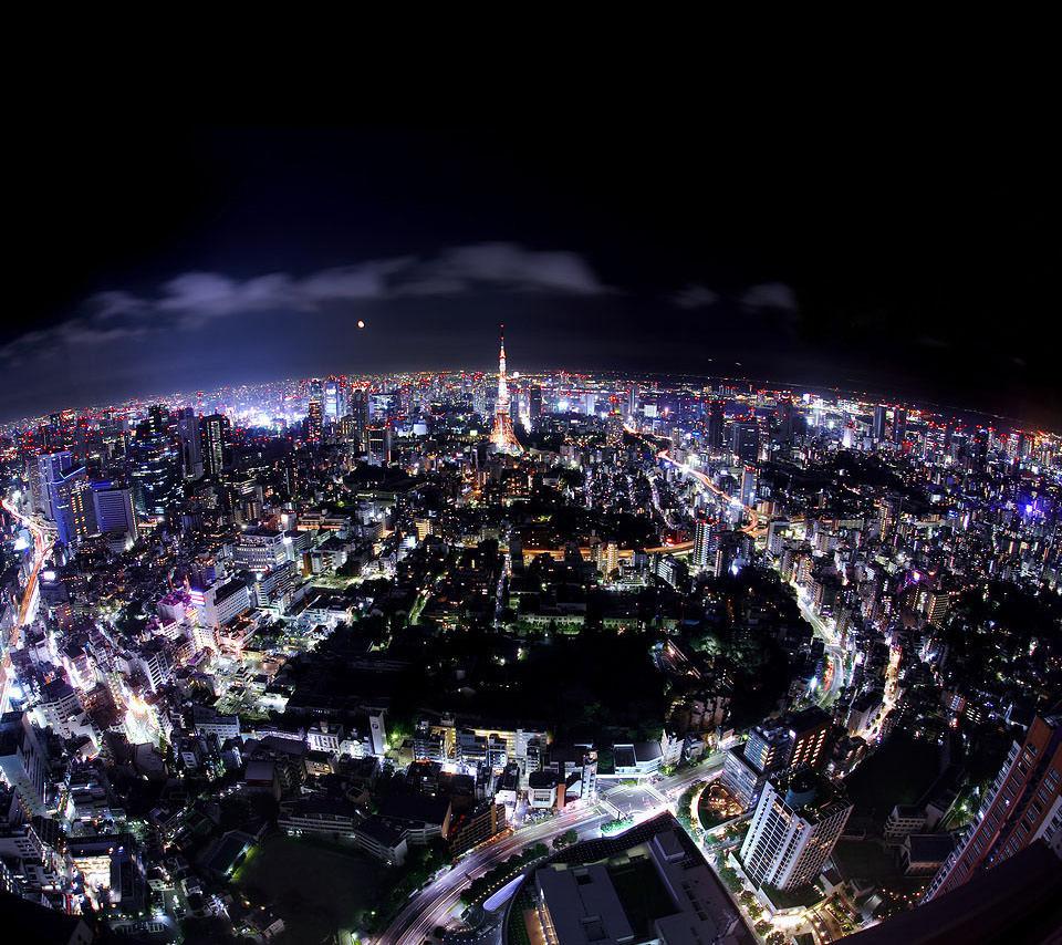 東京タワーの夜景 スマホ用壁紙(Android用/960×854)