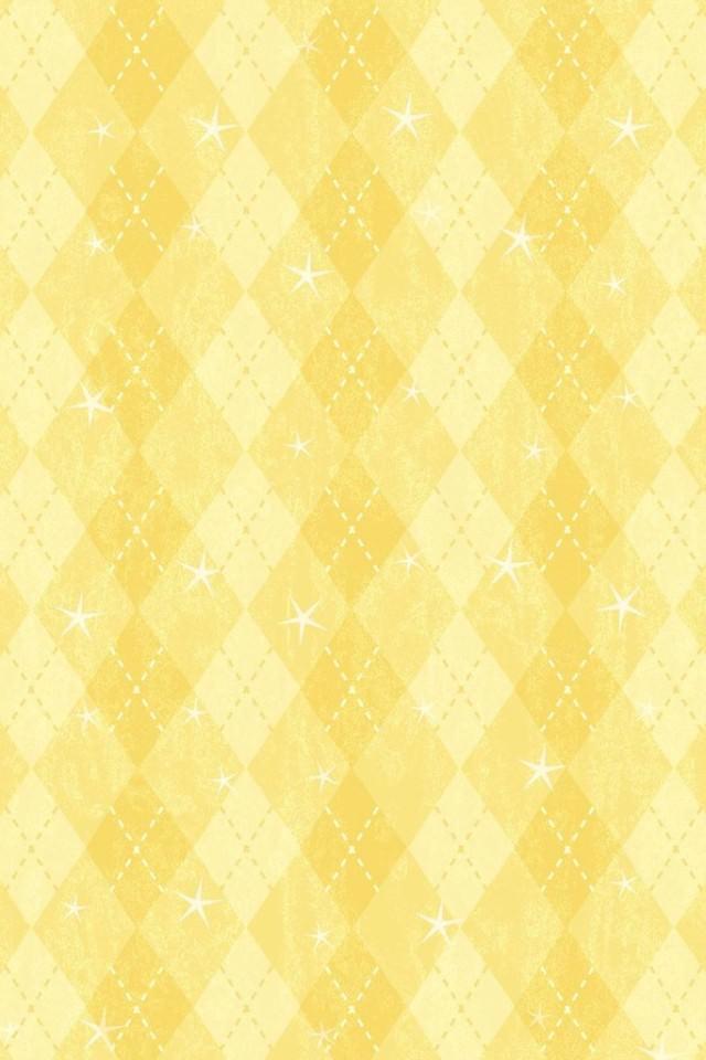 ポップな黄色のスマホ用壁紙(iPhone用/640×960)